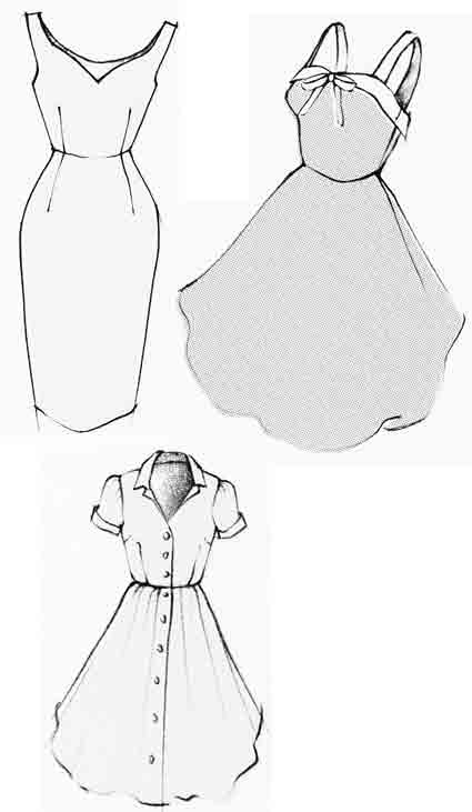 Size traceable patterns 10 patterns no drawings for sheath dress