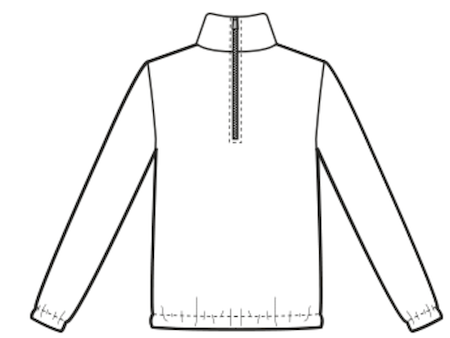 half zip placket